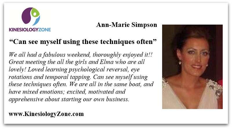 Testimonial Ann Marie Simpson