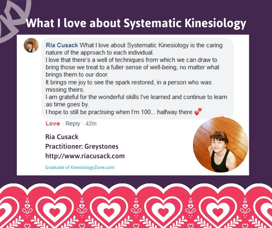 Ria Cusack Systematic Kinesiology