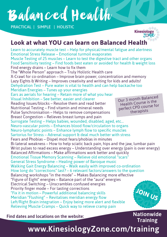 Balanced Health Course Why Join